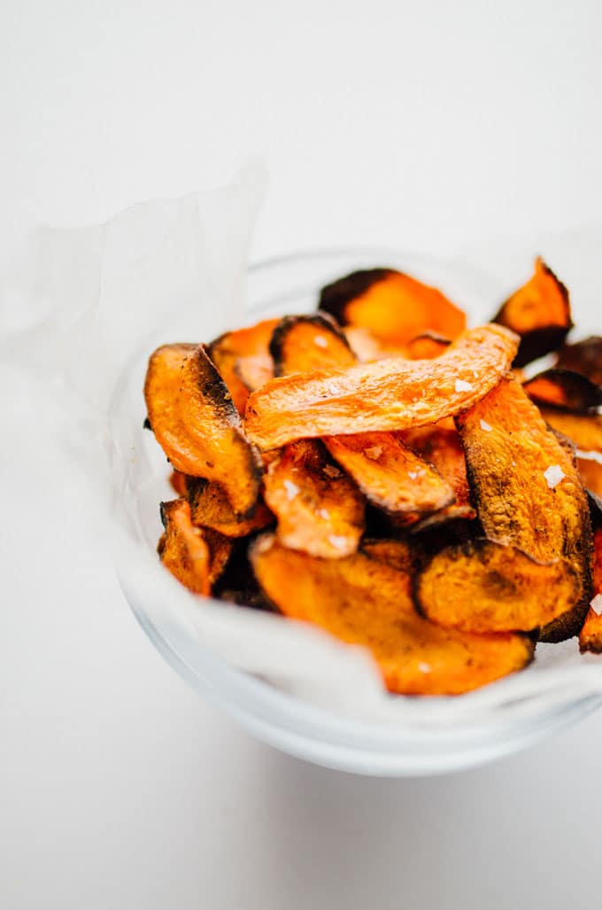 Baked carrot chips are the addictive snack you didn't know you needed. They're ultra-simple to make and have just a handful of ingredients.