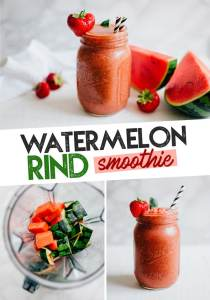 This recipe is as unique as it is delicious...Watermelon Rind Smoothie! A waste free smoothie that's hydrating, refreshing, and perfect for bringing along on your summer adventures!