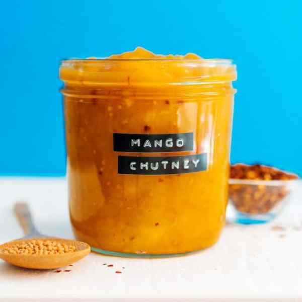This Mango Chutney is a simple and delicious spread that's packed with flavor and is perfect slathered onto just about anything!