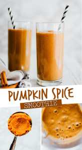 Tis the season for pumpkin spiced everything! This Healthy Pumpkin Smoothie is packed with all the autumn flavors and coffee (yes, COFFEE!) to get you going in the morning.