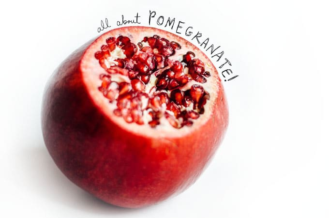 Picture of a pomegranate on a white background