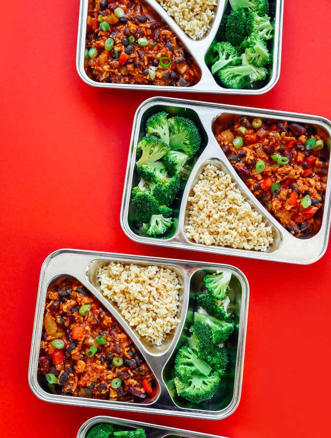 Tempeh Chili Meal Prep