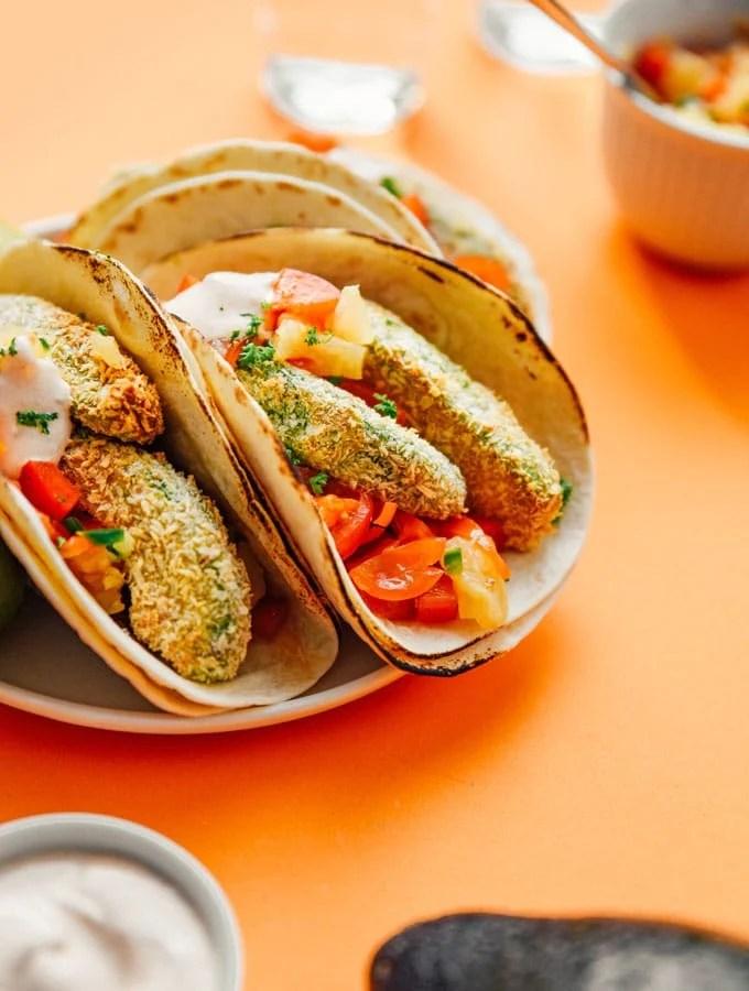 6. Crispy Avocado Tacos