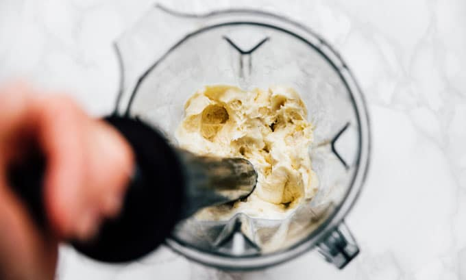 Banana nice cream recipe in a Vitamix blender - Satisfy your sweet tooth with this creamy and customizable 1-ingredient Banana Nice Cream!