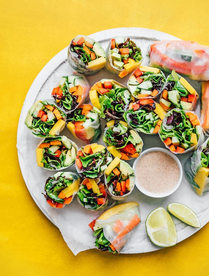 3. Vegetable Vietnamese Spring Rolls