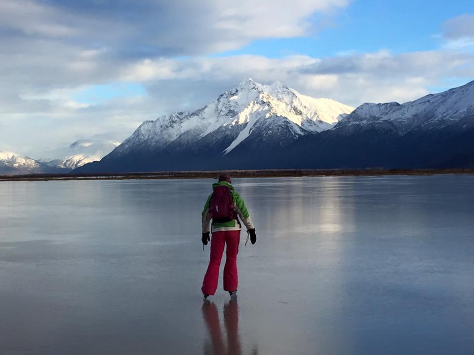 Backcountry Ice Skating, Palmer Hay Flats, Palmer, AK