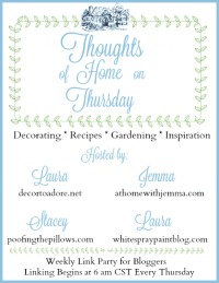 Thoughts on Home Thursday Blog party