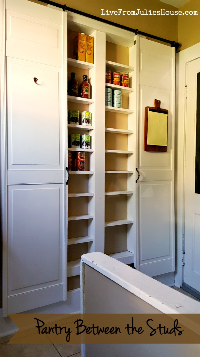 pantry between the studs live from julie 39 s house. Black Bedroom Furniture Sets. Home Design Ideas