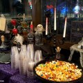 """Halloween Decor on the Cheap: It's Party Time! It's time to put all my budget friendly, DIY, """"Halloween Decor on the Cheap"""" projects on display - it's party time! What do you think of the final result?"""