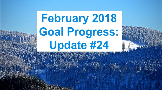 February 2018 Goal Progress: Update #24