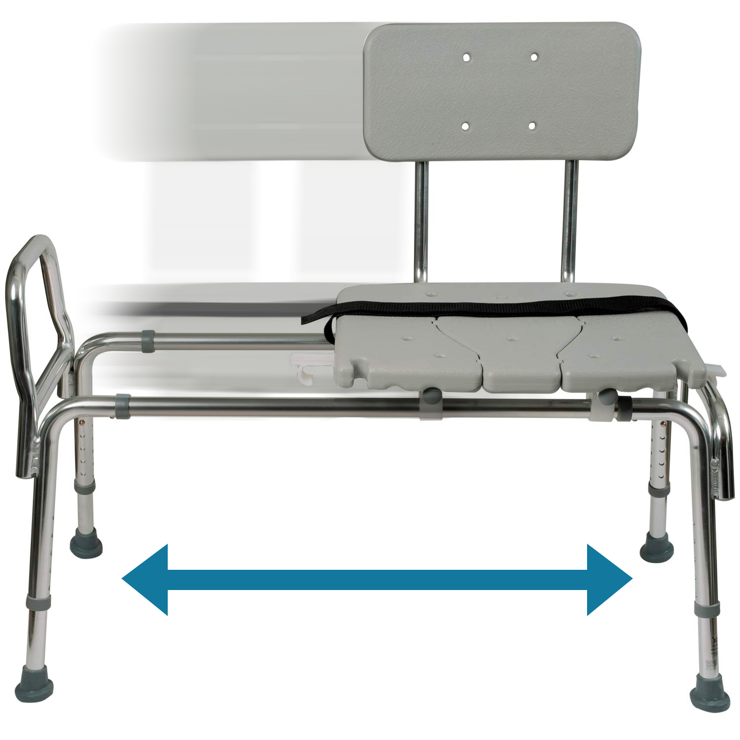 Dmi 174 Sliding Transfer Bench Shower Chair With Cut Out Seat
