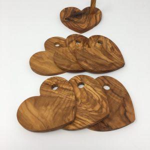 Onderzetters olijfhout
