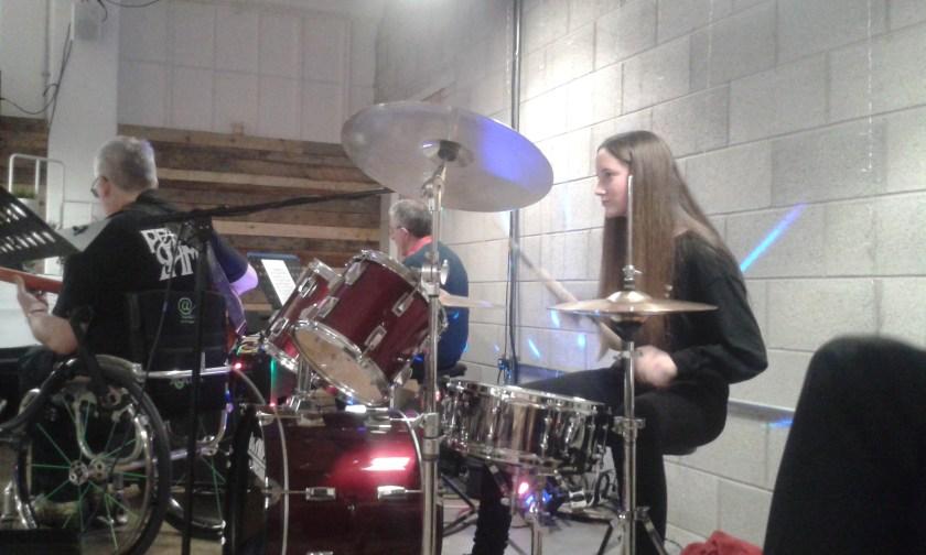 Claire Taylor Falcon Lodge drum lessons Birmingham