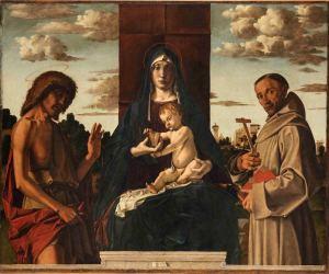 Bartolomeo Montagna, Madonna col Bambino e i santi Giovanni Battista e Francesco (1485 ca)