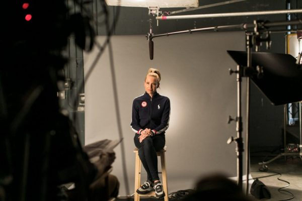 Olympic silver medalist from the 2012 London Games and plant-based activist, Dotsie Bausch on set at the Switch4Good commercial shoot_ (1)