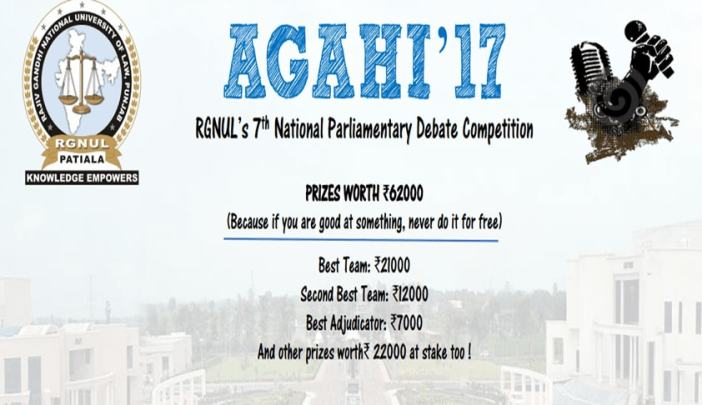Image result for Agahi '17: RGNUL 7th National Parliamentary Debate Competition