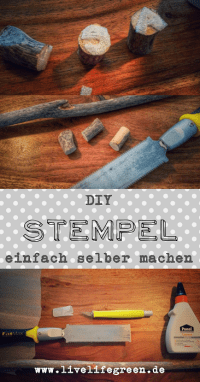 Pinterest-Pin: DIY Upcycling Stempel