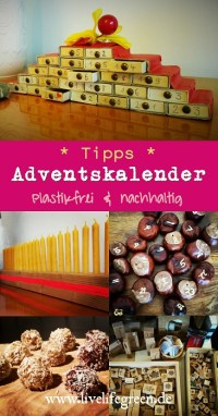 Pinterest-Pin: Tipps für einen nachhaltigen Adventskalender