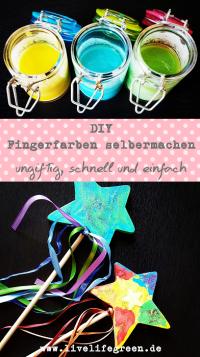 Pinterest-Pin: DIY Fingerfarben selbermachen
