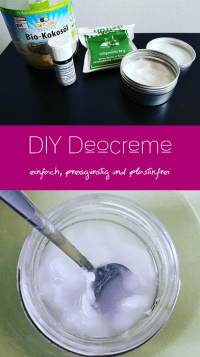 Pinterest-Pin: Selbstgemachte Deocreme