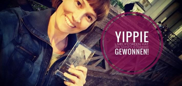 livelifegreen ist der Gewinner des Isarnetz Blog Award 2017 in der Kategorie Familie