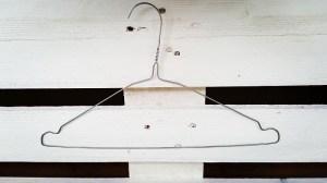 Upcycling-Kescher Basis Drahtkleiderbügel