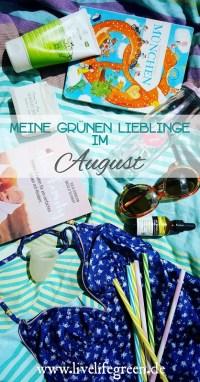 Pinterest-Pin: Grüne Lieblinge im August 2017