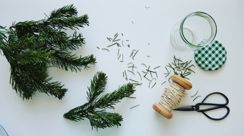 Weihnachtsbaum upcycling Erkältungsbad: Das braucht ihr dafür