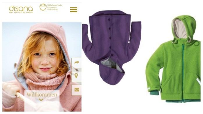 Faire und nachhaltige Wintermode und Schneeanzüge für Kinder Disana