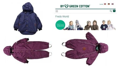 Faire und nachhaltige Winterjacken und Schneeanzüge für Kinder Fred's World by Green Cotton