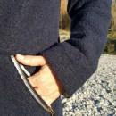 Nachhaltige Winterjacke aus Wolle vom Finkhof Tasche
