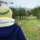 Nachhaltige Winterjacke aus Wolle vom Finkhof hinten