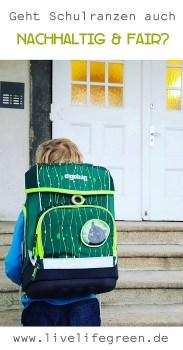 Pinterest-Pin: faire und nachhaltige Schulranzen von ergobag