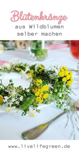 Pinterest-Pin: Blütenkränze einfach selber machen