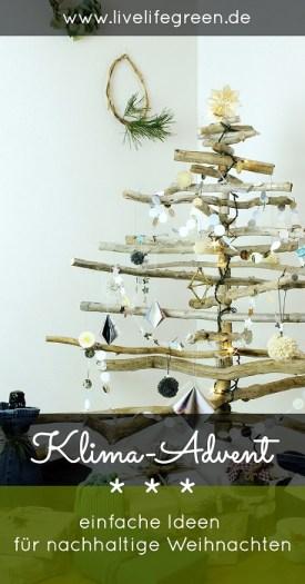 Pinterest-Pin: Klima-Advent Ideen für nachhaltige Weihnachten
