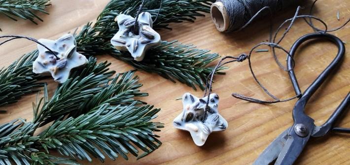 Vogelfutter Sterne: Meisenknödel ohne Plastik selber machen
