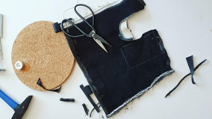 Material für Upcycling-Schutzhülle für Rasierhobel