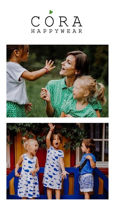 Nachhaltiges Mutter Kind Outfit mit CORA Happywear