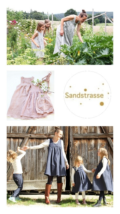 Nachhaltiges Mutter Kind Outfit mit Sandstrasse