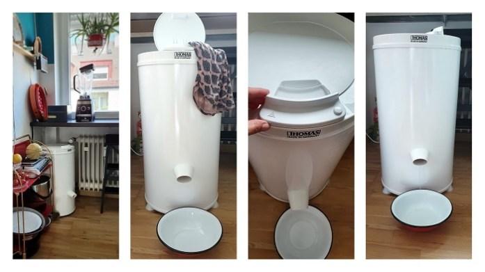 Platzsparende Wäscheschleuder von THOMAS in Mini-Küche