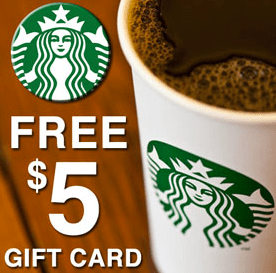 starbucks-5-Gift-card