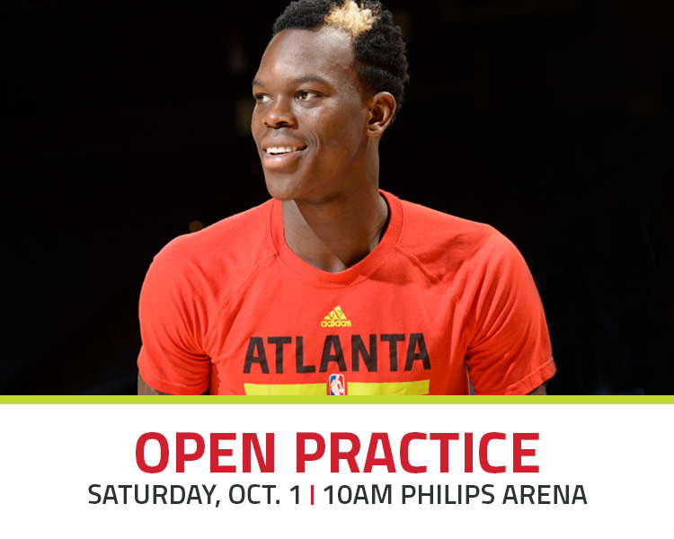 open practice with Atlanta Hawks