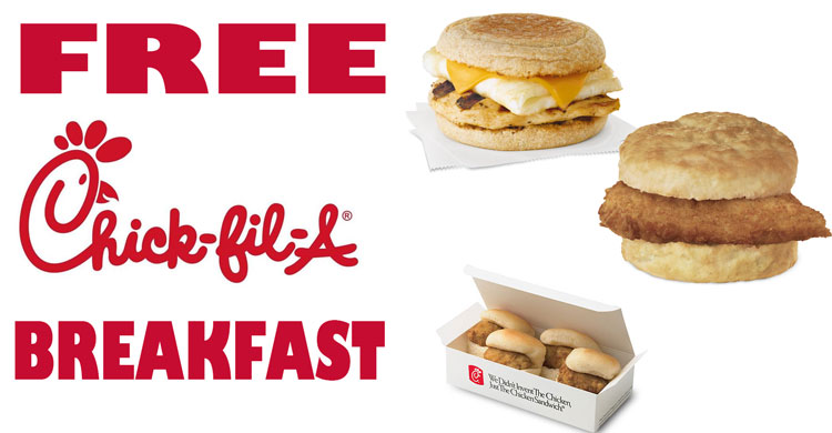 photograph relating to Chickfila Coupons Printable called Chick fil a absolutely free breakfast 2018 - Northern lighting theater
