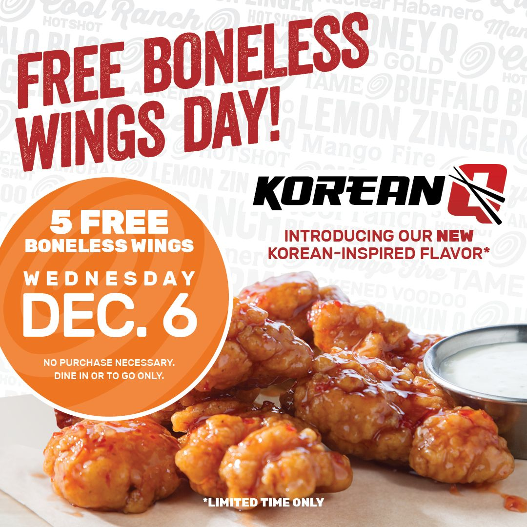 Free Boneless Wings from Wing Zone - Live Life Half Price