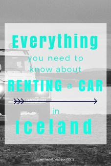 Are you planning a to road trip in Iceland? Wondering what to look for in a rental car? Here is everything you need to consider when deciding on what kind of car to rent on your trip to Iceland!