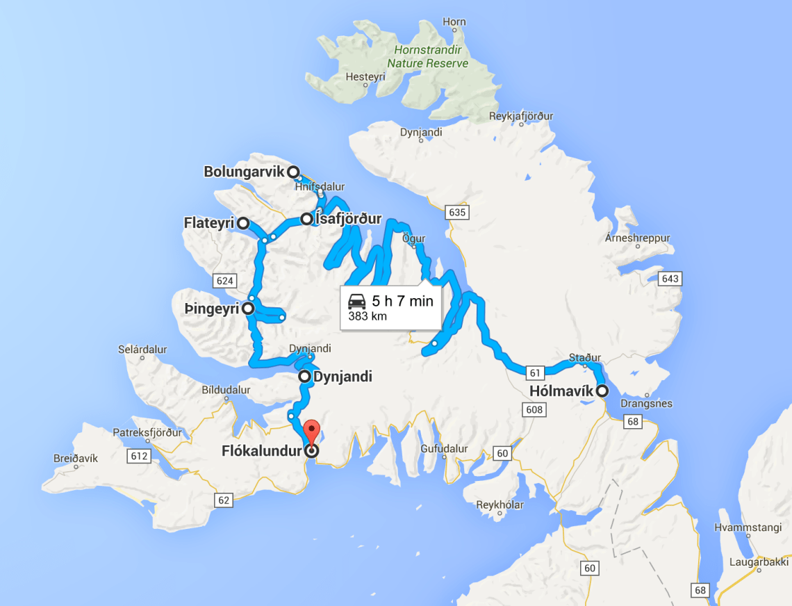Westfjord road trip itinerary