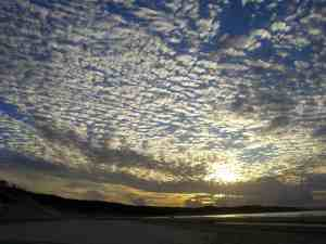Beautiful sunset over Fraser Island, Australia