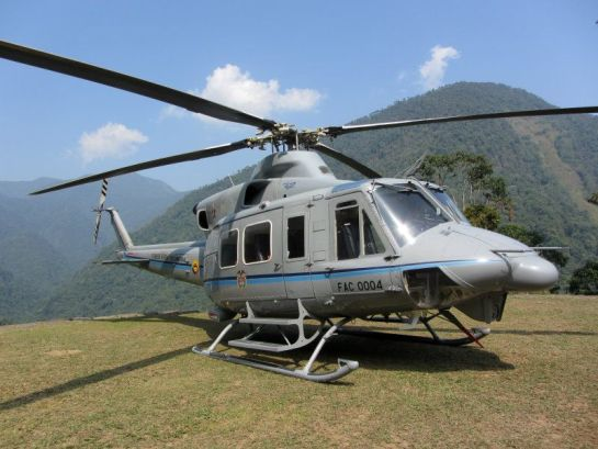 Colombia president helicopter