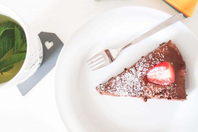 Raw vegan chocolate cake
