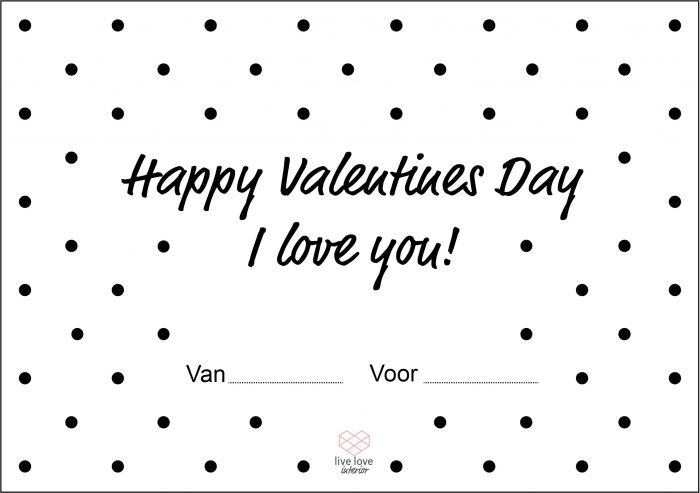 Boterhambriefje - Happy Valentines Day - Live love interior
